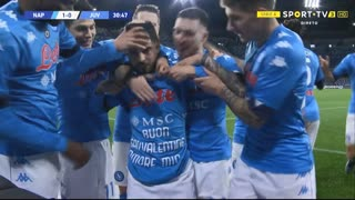 GOLO! Napoli, L. Insigne aos 31', Napoli 1-0 Juventus