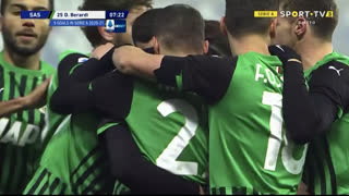 GOLO! Sassuolo, D. Berardi aos 8', Sassuolo 1-0 Benevento