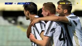 GOLO! Juventus, Álvaro Morata aos 46', Fiorentina 1-1 Juventus