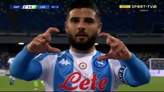 GOLO! Napoli, L. Insigne aos 53', Napoli 3-0 Lazio