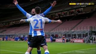 GOLO! Napoli, M. Politano aos 49', Milan 0-1 Napoli