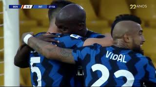 GOLO! Internazionale, R. Lukaku aos 28', Benevento 0-3 Internazionale