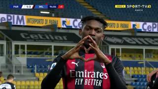 GOLO! Milan, Rafael Leão aos 90'+4', Parma 1-3 Milan