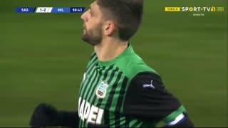 GOLO! Sassuolo, D. Berardi aos 89', Sassuolo 1-2 Milan