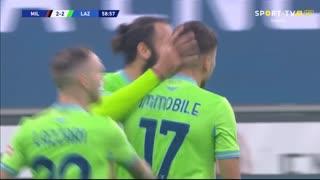GOLO! Lazio, C. Immobile aos 59', Milan 2-2 Lazio