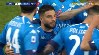 GOLO! Napoli, L. Insigne aos 90', Sassuolo 2-3 Napoli