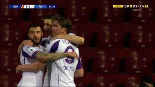 GOLO! Fiorentina, D. Vlahović aos 26', Benevento 0-2 Fiorentina