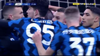 GOLO! Internazionale, R. Lukaku aos 22', Internazionale 1-0 Lazio