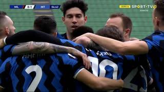 GOLO! Internazionale, L. Martínez aos 5', Milan 0-1 Internazionale