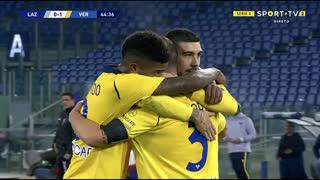 GOLO! Verona, M. Lazzari (p.b.) aos 45', Lazio 0-1 Verona