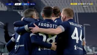 GOLO! Juventus, Danilo aos 50', Juventus 1-0 Sassuolo