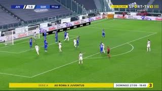 GOLO! Juventus, L. Bonucci aos 78', Juventus 2-0 Sampdoria