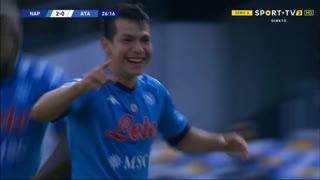 GOLO! Napoli, H. Lozano aos 27', Napoli 2-0 Atalanta