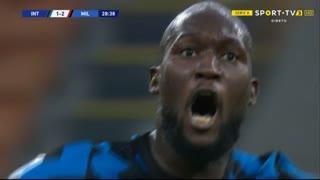 GOLO! Internazionale, R. Lukaku aos 29', Internazionale 1-2 Milan