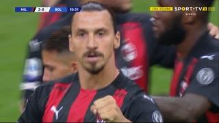 GOLO! Milan, Ibrahimovic aos 51', Milan 2-0 Bologna