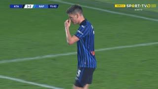 GOLO! Napoli, R. Gosens (p.b.) aos 75', Atalanta 3-2 Napoli