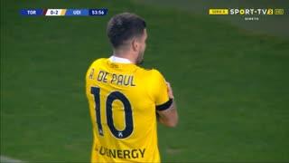 GOLO! Udinese, R. de Paul aos 54', Torino 0-2 Udinese