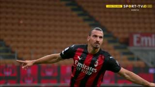 GOLO! Milan, Ibrahimovic aos 35', Milan 1-0 Bologna