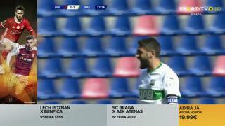 GOLO! Sassuolo, D. Berardi aos 18', Bologna 1-1 Sassuolo