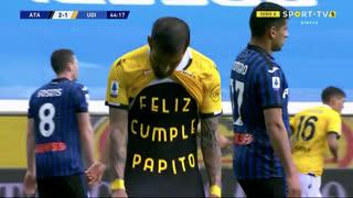 GOLO! Udinese, R. Pereyra aos 45', Atalanta 2-1 Udinese