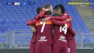 GOLO! Roma, L. Pellegrini aos 17', Roma 1-0 Internazionale
