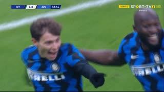 GOLO! Internazionale, N. Barella aos 52', Internazionale 2-0 Juventus