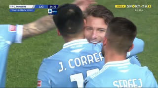 GOLO! Lazio, C. Immobile aos 25', Benevento 0-1 Lazio