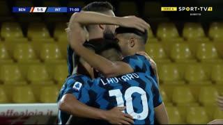 GOLO! Internazionale, L. Martínez aos 71', Benevento 1-5 Internazionale
