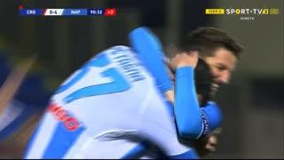 GOLO! Napoli, A. Petagna aos 90'+1', Crotone 0-4 Napoli