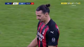 GOLO! Milan, Ibrahimovic aos 90'+3', Milan 2-2 Verona