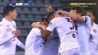 GOLO! Torino, Bremer aos 76', Cagliari 0-1 Torino
