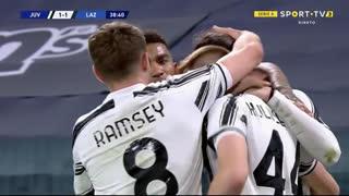 GOLO! Juventus, A. Rabiot aos 39', Juventus 1-1 Lazio