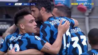 GOLO! Internazionale, A. Sánchez aos 36', Internazionale 3-1 Sampdoria