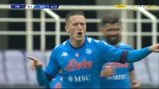 GOLO! Napoli, P. Zieliński aos 67', Fiorentina 0-2 Napoli