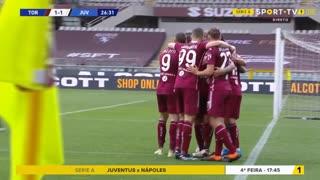 GOLO! Torino, A. Sanabria aos 27', Torino 1-1 Juventus