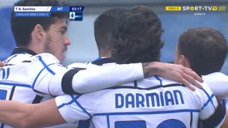 GOLO! Internazionale, A. Sánchez aos 4', Sassuolo 0-1 Internazionale