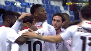 GOLO! Milan, Rafael Leão aos 1', Sassuolo 0-1 Milan