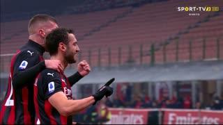 GOLO! Milan, H. Çalhanoğlu aos 17', Milan 2-0 Lazio