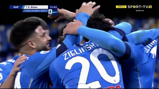 GOLO! Napoli, E. Elmas aos 32', Napoli 1-0 Parma