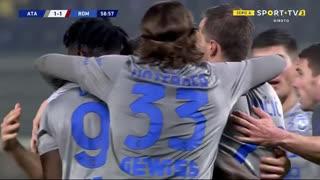 GOLO! Atalanta, D. Zapata aos 59', Atalanta 1-1 Roma