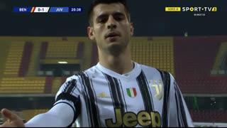 GOLO! Juventus, Álvaro Morata aos 21', Benevento 0-1 Juventus