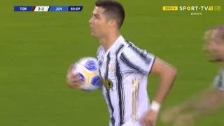 GOLO! Juventus, Cristiano Ronaldo aos 79', Torino 2-2 Juventus