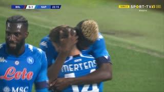 GOLO! Napoli, V. Osimhen aos 23', Bologna 0-1 Napoli