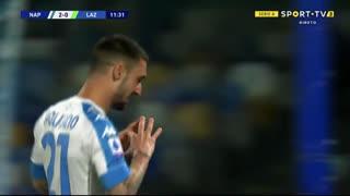 GOLO! Napoli, M. Politano aos 12', Napoli 2-0 Lazio