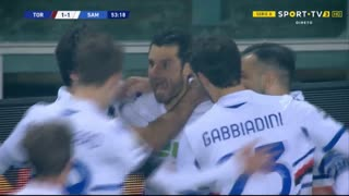 GOLO! Sampdoria, A. Candreva aos 54', Torino 1-1 Sampdoria