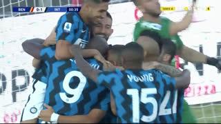 GOLO! Internazionale, R. Lukaku aos 1', Benevento 0-1 Internazionale