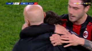 GOLO! Milan, Brahim Díaz aos 45'+1', Juventus 0-1 Milan