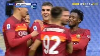 GOLO! Roma, G. Mancini aos 24', Roma 1-0 Genoa