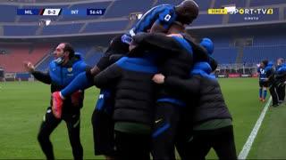 GOLO! Internazionale, L. Martínez aos 57', Milan 0-2 Internazionale