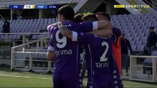 GOLO! Fiorentina, L. Martínez aos 28', Fiorentina 1-0 Parma